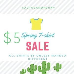 $5 t-shirt sale! Bundle and I will give $6.49 ship